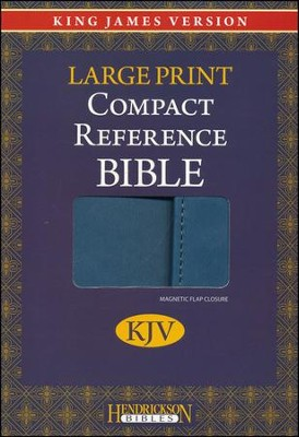 KJV Large Print Compact Reference Bible with Flap Flexisoft Blue - Slightly Imperfect  -
