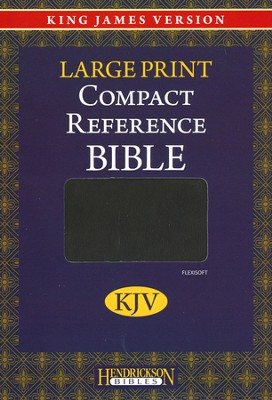 KJV Compact Reference Bible Flexsoft Dark Brown   -