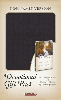 KJV Devotional Gift Set Black   -     By: Charles H. Spurgeon