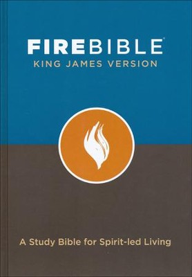 Fire Bible KJV version, hardcover   -