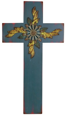 Wall Cross, Blue  -