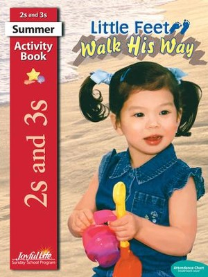 Little Feet Walk His Way (ages 2 & 3) Activity Book   -