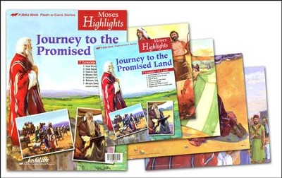 Moses Highlights Flash-a-Card Set (for use with Bible Adventures Primary Grades 1-2 Sunday School Curriculum)  -