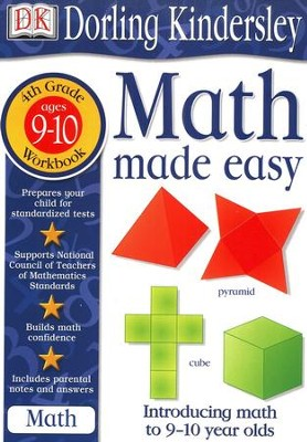 Math Made Easy: Fourth Grade Workbook  -