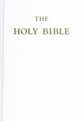 Douay-Rheims Bible, Hardcover With Genuine Leather, White (Large)   -     Edited By: Bishop Richard Challoner     By: Bishop Richard Challoner(Ed.)