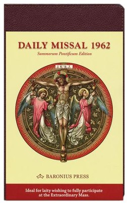 Daily Missal 1962, Genuine Leather, Burgundy    -