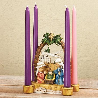 Advent candle holder Christmas decoration