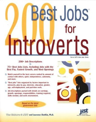 200 Best Jobs for Introverts   -     By: Laurence Shatkin
