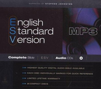 ESV Complete Bible on MP3 CDs  -     Narrated By: Stephen Johnston