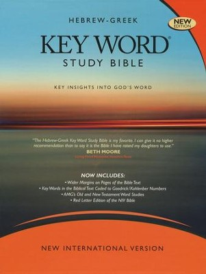 NIV Hebrew-Greek Key Word Study Bible, Bonded Leather Black 1984  -     By: Spiros Zodhiates, Warren Baker