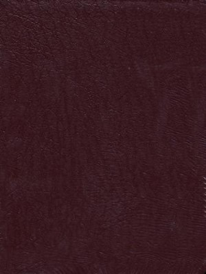 ESV Key Word Study Bible, Genuine Leather, Burgundy  -
