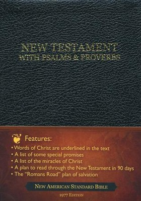 God's Precious Promises New Testament: New American Standard Bible Bonded Leather Black  -