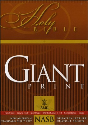 NASB 1977 Giant Print Handy-Size Reference Bible, Duraflex  Leather, Duaotone Brown  -