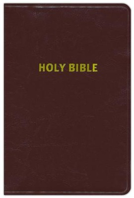 NASB (1977 Edition) Giant Print Handy-Size Bible, Burgundy Bonded Leather  -
