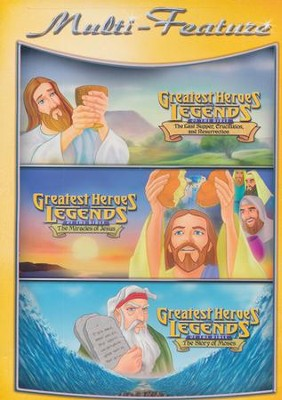 Greatest Heroes & Legends: Last Supper, Miracle of   Jesus, Story of Moses DVD  -
