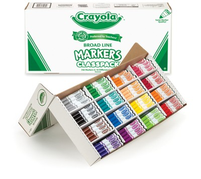 Crayola, Washable Broad Line Markers, 16 Colors, 256 Pieces  -