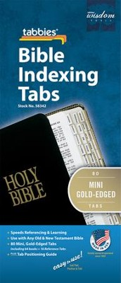 Bible Tabbies, Mini Gold   -