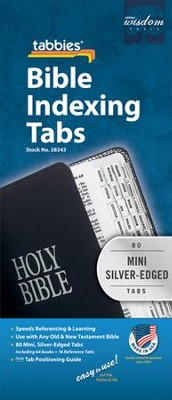 Bible Tabbies, Silver, Mini   -