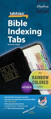 Catholic Bible Tabs In Rainbow Colors   -