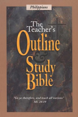 Teacher's Outline & Study Bible KJV: Philippians    -