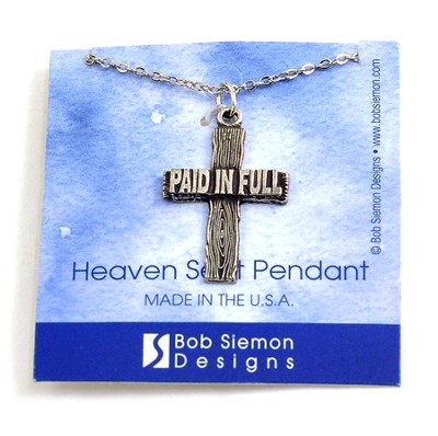 Paid In Full Cross Pendant   -