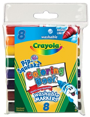 Pip-Squeaks &#174 Washable Coloring Book Markers, Pack of 8  -