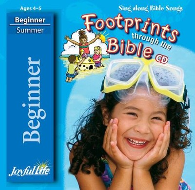Footprints through the Bible Beginner (ages 4 & 5) Audio CD  -