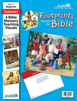 Footprints through the Bible Beginner (ages 4 & 5) Bible Memory Verse Visuals  -