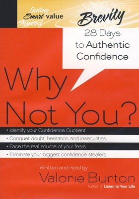 Why Not You? 28 Days to Authentic Confidence -  audiobook on CD  -     By: Valorie Burton