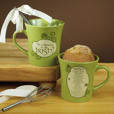 Tis A Blessing To Be Irish Mug with Whisk  -