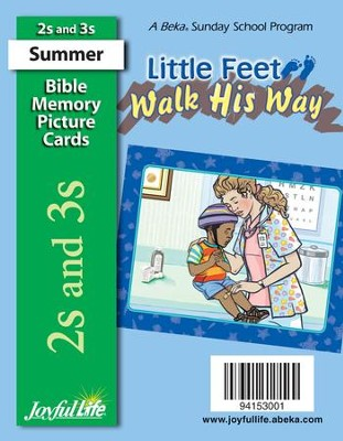 Little Feet Walk His Way (ages 2 & 3) Mini Bible Memory Picture Cards  -
