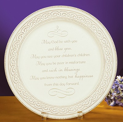 Irish Wedding Plate  -
