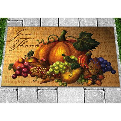 Give Thanks Floormat  -