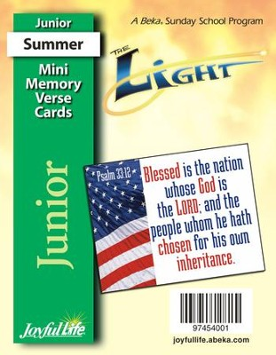 The Light Junior (Grades 5-6) Mini Memory Verse Cards   -