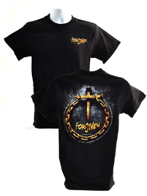Forgiven (Nails & Chain) T-Shirt, Black, X-Large (46-48)   -