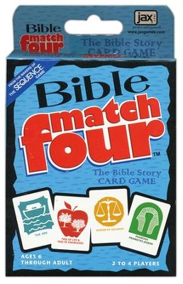 Bible Match Four Bible Story Card Game  -