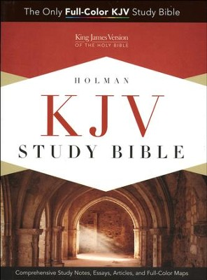 KJV Study Bible, Holman, Hardcover  - Slightly Imperfect  -