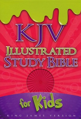 KJV Illustrated Study Bible for Kids, Pink Simulated Leather  -