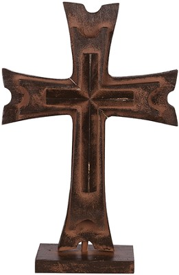 Pedestal Cross, Brown  -