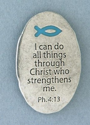 Pewter Magnet, I Can Do All Things Through Christ  -