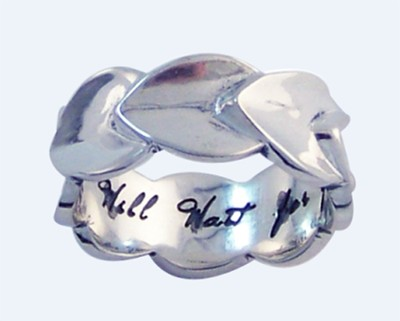 I Will Wait for You Ring, Sterling Silver, Size 10  -