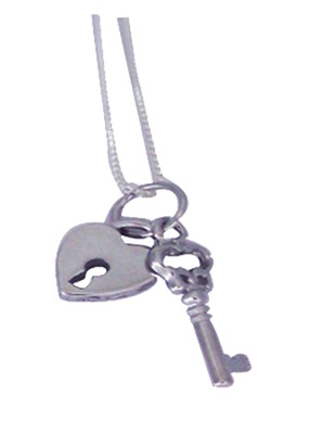 Only One Holds the Key Necklace, Sterling Silver  -