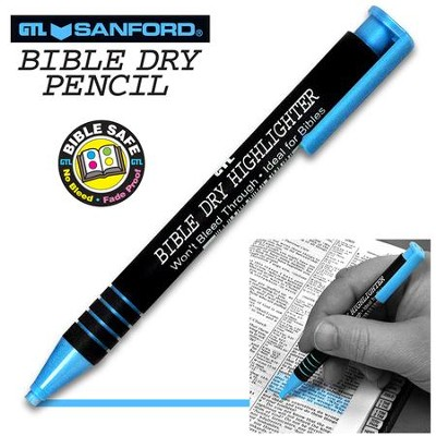 Bible Dry Highlighter, Blue    -