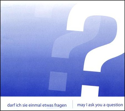 May I Ask You a Question? - German/English Pack of 25  -