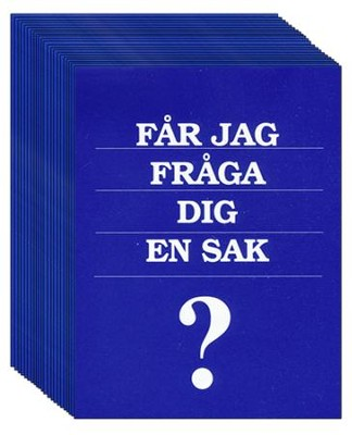 May I Ask You a Question? - Swedish Pack of 25  -