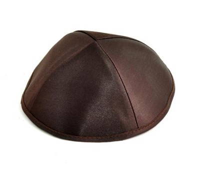Dark Brown Kippah  -