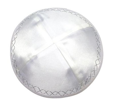 White Satin Kippah   -