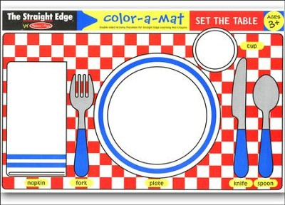 Melissa & Doug Set the Table Color-a-Mat    -