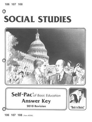 World History Self-Pac Key 106-108, Grade 10    -