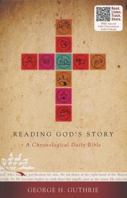 Reading God's Story: A Chronological Daily Bible, Hardcover  - Slightly Imperfect  -
